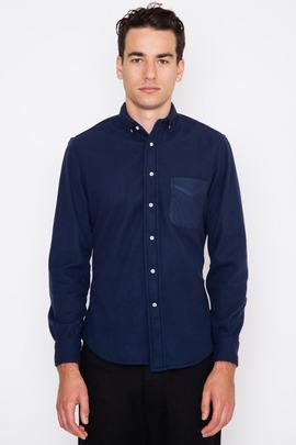 Gitman Bros. Vintage Blue Club Collar Fleece