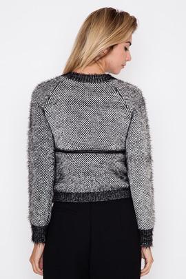Jonathan Simkhai Texture Mesh Zip Sweater