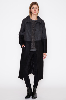 Just Female Vouge Two-Tone Coat