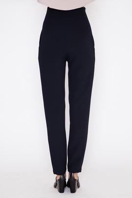 Kaarem Black-Blue Sam High-Waisted Pocket Pant