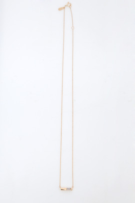 Adina Reyter Tiny Pavé Flash Bar Necklace