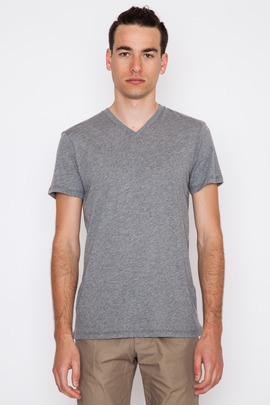 Wings + Horns Smoke S/S Cotton Cashmere V-Neck