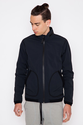 Reigning Champ Black Stow Away Hood Jacket