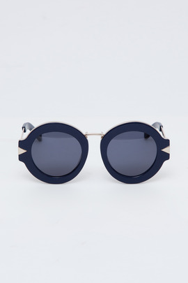 Karen Walker Navy/Gold Maze Sunglasses