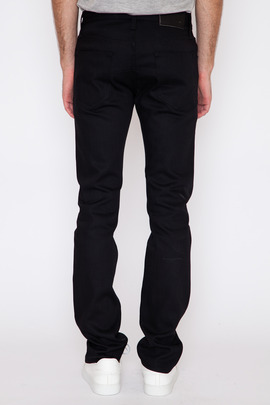 Wings + Horns Black Denim 5-Pocket Pant SS15