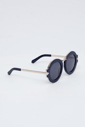 Karen Walker Navy/Gold Maze Sunglasses