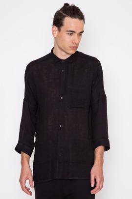 Chapter Black Singer 3/4 Sleeve Voile Shirt