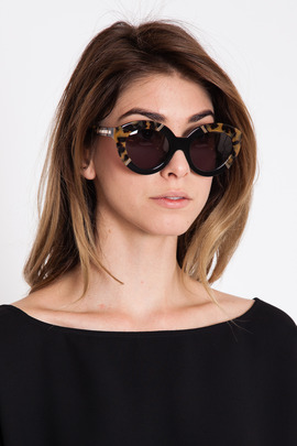 Karen Walker Crazy Tortoise Flowerpatch Sunglasses