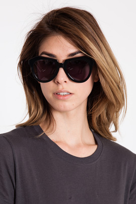 Karen Walker Black Number One Sunglasses