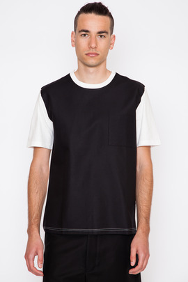 Ami Black Front Panel T-Shirt