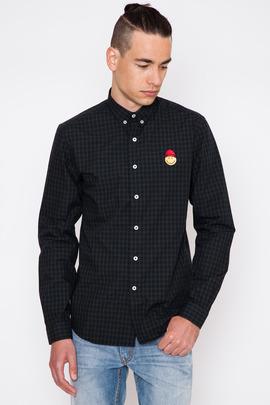Ami Happy Ami Micro Tartan Button-Down Shirt