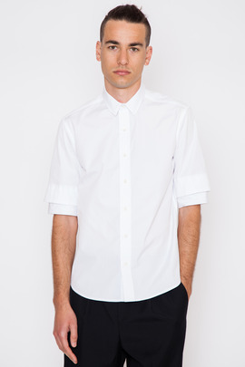 Public School Double Short-Sleeve Button Up