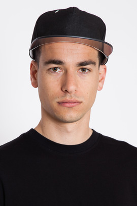 DRKSHDW Men's Denim/Mesh Leather-Billed Cap