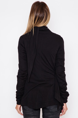Rick Owens Lilies Black Throw-Over Wrap Jacket