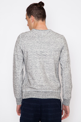 Wings + Horns Double Knit Heather L/S Crewneck Pullover
