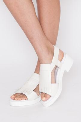 Miista Bridgette Fringed Flatform Sandal