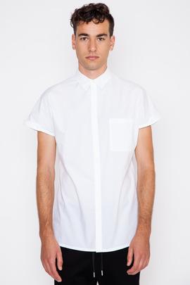Helmut Lang Parachute Cotton Cap Sleeve Shirt