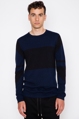 Helmut Lang Graphic Intarsia Pullover