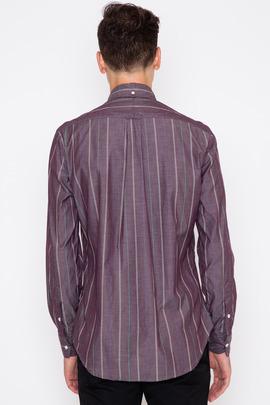 Gitman Bros. Vintage Purple Archive Chambray Stripe