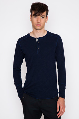Wings + Horns Navy L/S Base Henley FW15