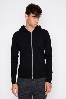 Wings + Horns Black Base Zip Hoodie FW15