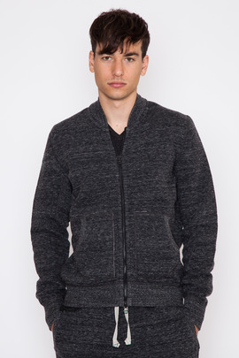 Wings + Horns Black Cabin Fleece Bomber
