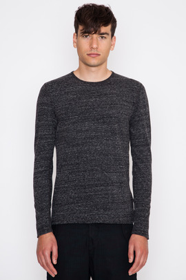 Wings + Horns Black Splash Jersey L/S Crewneck Tee