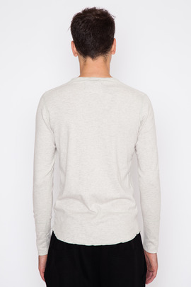 Wings + Horns Heather Ash L/S Base Henley FW15