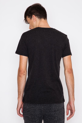 Wings + Horns Black S/S Cotton Cashmere V-Neck FW15