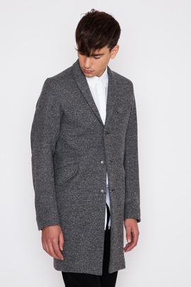 Wings + Horns Knit Wool Top Coat