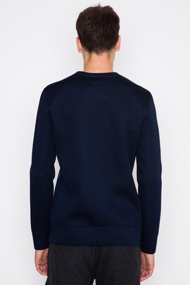 Helmut Lang Sponge Fleece Tape Detail Crewneck Sweatshirt