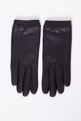 Just Female Black Stall Leather Gloves