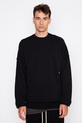 SILENT Men's Black Soter Cropped Sweatshirt