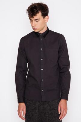 Robert Geller Charcoal Contrast Collar Robert Oxford Shirt