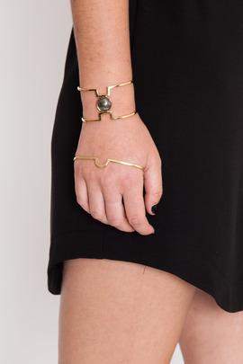 Lady Grey Gold Cleft Palm Cuff
