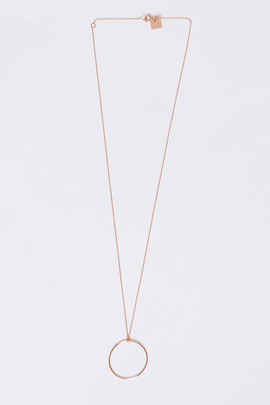 Ginette NY 18K Baby Circle on Chain Necklace