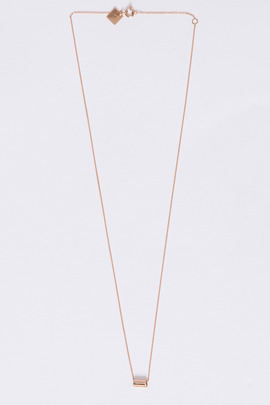 Ginette NY 18K Mini Straw on Chain Necklace
