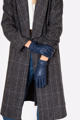 Just Female Blue Stall Leather Gloves