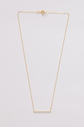 Vale 14K Gold Simple Bar Necklace