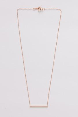 Vale 14K Rose Gold Simple Bar Necklace