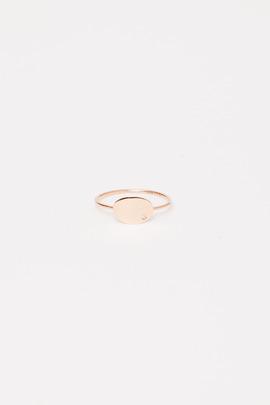 Ginette NY 18K Mini Sequin & Diamond Ring