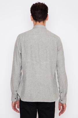 Wings + Horns Dune Jaspe Herringbone Flannel L/S Shirt