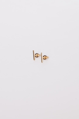 Vale 14K Gold Staple Stud Earrings