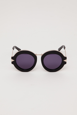 Karen Walker Black/Gold Maze Sunglasses