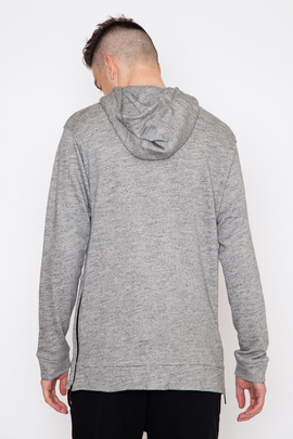 Public School Brine Side Zip Elongated Hoodie