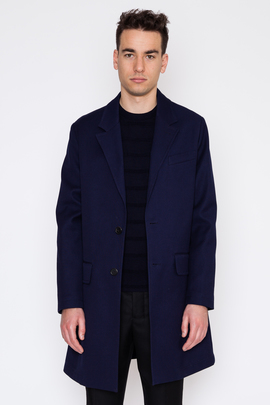 Ami Half Lined Two-Button Coat