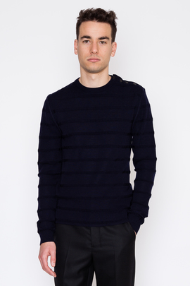 Ami Virgin Wool Fisherman Sweater