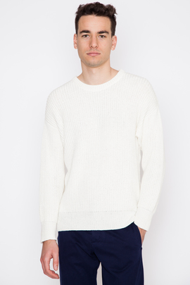 Ami Large Rib Crewneck Sweater