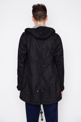 Wings + Horns Vented Linen Fishtail Parka