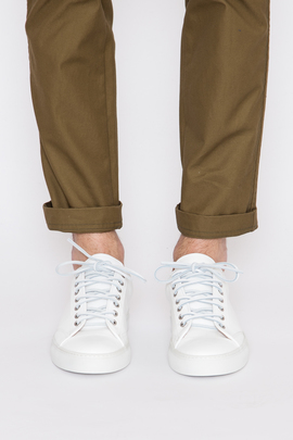 Wings + Horns White Leather Low-Top Sneaker SS16